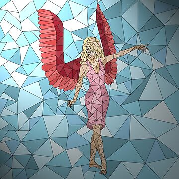 Pink Angel Stained Glass by EloisaRelish