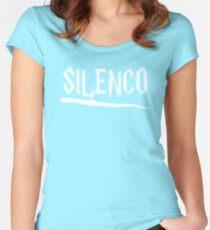 Cool Parody Magic Wand Silenco Fan Design Women's Fitted Scoop T-Shirt