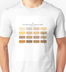 H.M. British Tea Colour Chart Slim Fit T-Shirt