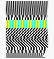 Op art pattern Poster