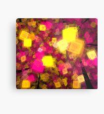 Yellow Pink Cubes Metal Print