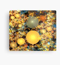 Warm Copper Spheres Metal Print