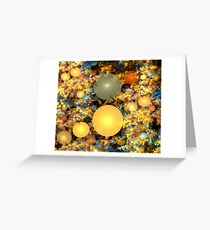 Warm Copper Spheres Greeting Card
