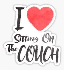 I Love Sitting On The Couch Sticker