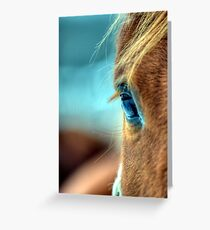 Horse Eye Greeting Card