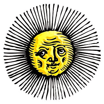 OLD SUN, Solar, Sunshine, STAR, engraving, etching, historic, history by TOMSREDBUBBLE