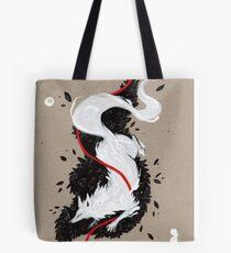 WHITE FOX RIBBONS  Tote Bag