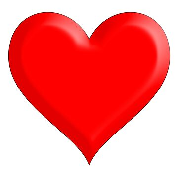 LOVE HEART, Heart, Beating, Romance, Love, Red, on WHITE by TOMSREDBUBBLE