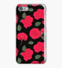 Red Roses Pattern iPhone Case/Skin
