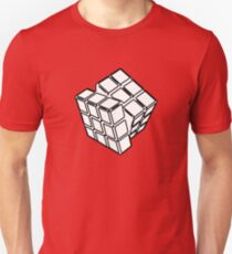 Black and White Rotating Rubix Cube T-Shirt