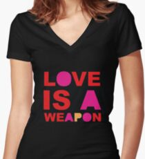 Love Is... Women's Fitted V-Neck T-Shirt