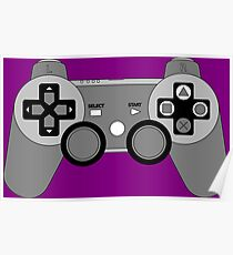 Video Game Console Playstation 3 Dualshock Gamepad  Poster
