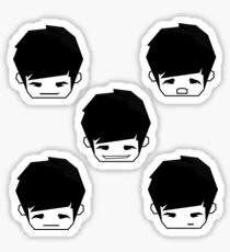 Black&White MadeByJawns Logo Emoticons Sticker