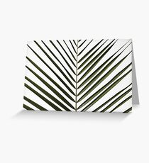Palm leaf on white background Soft Version Greeting Card