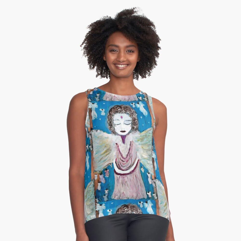 Angel of Healing and Restoration Contrast Tank Front