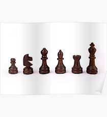 black chess pieces Poster