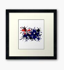 Australian Splatter Framed Print