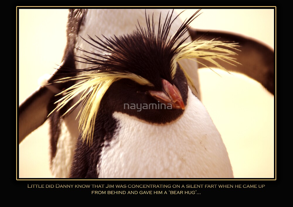 Penguin Poster - 'Little did Danny know....' by nayamina