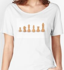 white chess pieces Women's Relaxed Fit T-Shirt