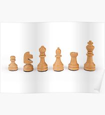 white chess pieces Poster