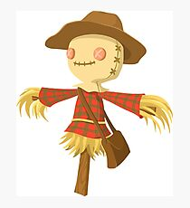 cartoon scarecrow Photographic Print
