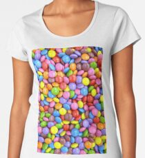 colorful candy smarties Women's Premium T-Shirt