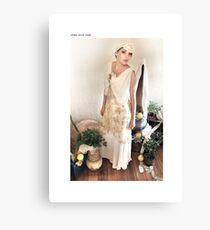 1930s bias gown Canvas Print