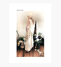 1930s bias gown Photographic Print
