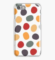 Simple abstract oval pattern. Retro seamless background. iPhone Case/Skin