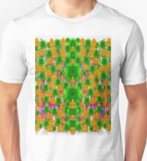 Jungle love in fantasy landscape of freedom peace pop art Unisex T-Shirt