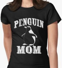 I Am A Penguin Mom Womens Fitted T-Shirt