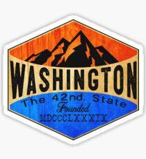WASHINGTON STATE NORTH CASCADES OLYMPIC NATIONAL PARK MOUNT RAINIER HOH RAIN FOREST  Sticker