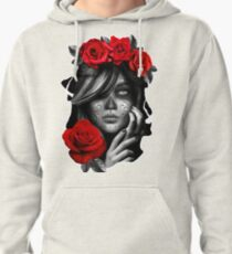 Day Of The Dead Woman Pullover Hoodie