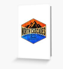NORTH CASCADES NATIONAL PARK WASHINGTON MOUNT BAKER HIKING CAMPING CLIMBING Greeting Card