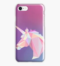 Unicorn low poly iPhone Case/Skin
