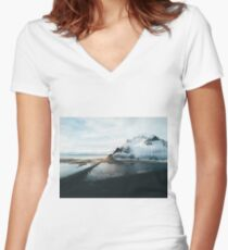 Iceland from above - Landscape Photography Women's Fitted V-Neck T-Shirt