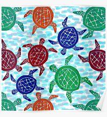 Danse des tortues Poster