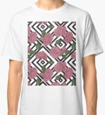 Pink Roses Pattern Classic T-Shirt