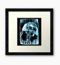 Skeleton, Death Ray Vision, Framed Print