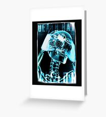 Skeleton, Death Ray Vision, Greeting Card