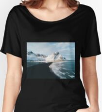 Iceland beach at sunset - Landscape Photography Women's Relaxed Fit T-Shirt