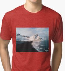 Iceland beach at sunset - Landscape Photography Tri-blend T-Shirt
