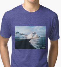 Iceland beach at sunset - Landscape Photography Tri-blend T-Shirt