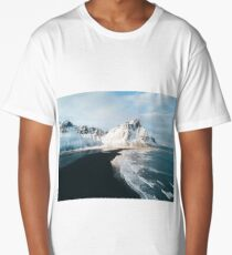 Iceland beach at sunset - Landscape Photography Long T-Shirt