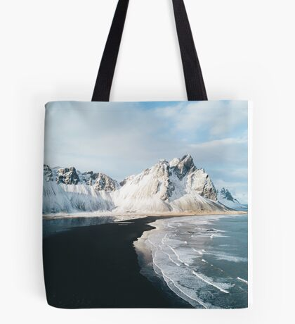 Iceland beach at sunset - Landscape Photography Tote Bag