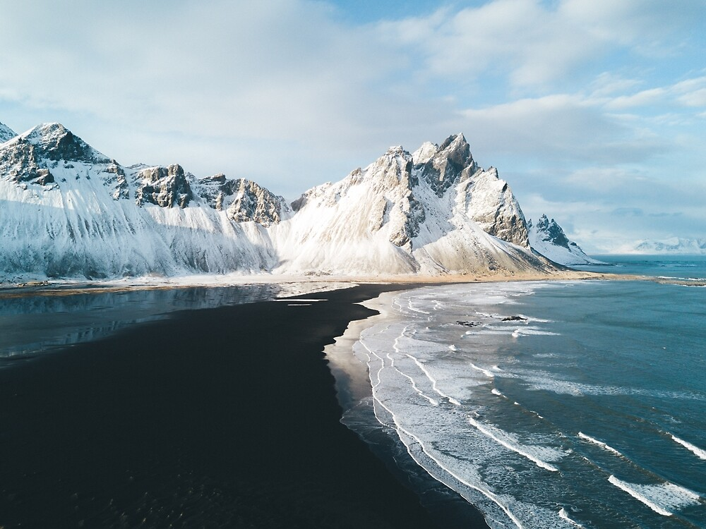 Iceland beach at sunset - Landscape Photography by Michael Schauer