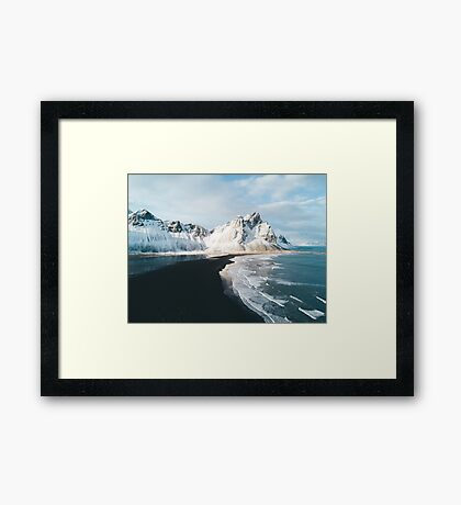 Iceland beach at sunset - Landscape Photography Framed Print