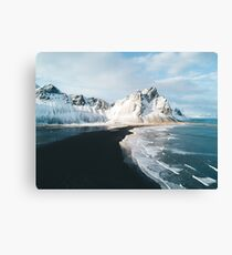 Iceland beach at sunset - Landscape Photography Canvas Print
