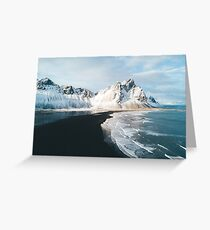 Iceland beach at sunset - Landscape Photography Greeting Card