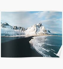 Iceland beach at sunset - Landscape Photography Poster